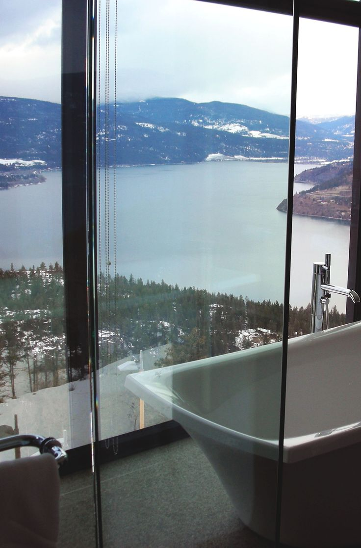 A Tub With A View; I Need This In My Retirement Condo. 30 Dream Bathrooms  With Breathtaking Views
