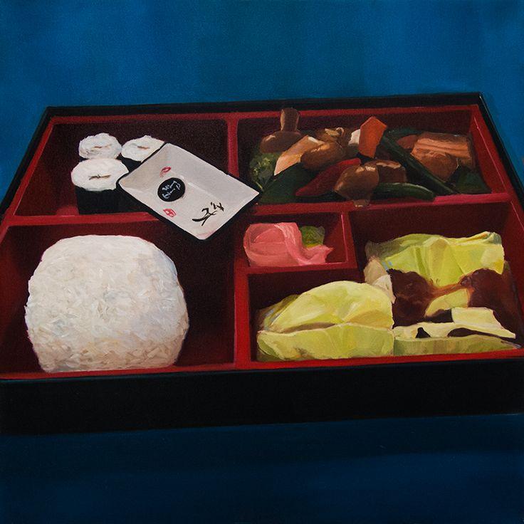 Tři chuti bento, Oil on canvas, 50x50cm