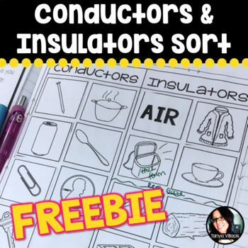 Enjoy this sorting freebie for conductors and insulators. Use this sorting activity to spark conversation with your students on the quality and difference between the various types of insulators (some being better than others). Enjoy!