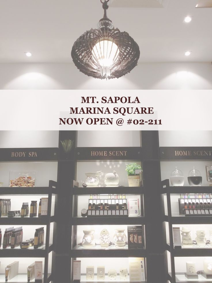 Exciting news to share with everyone! Mt. Sapola Marina Square now open @ #02-211! Come visit us today:)