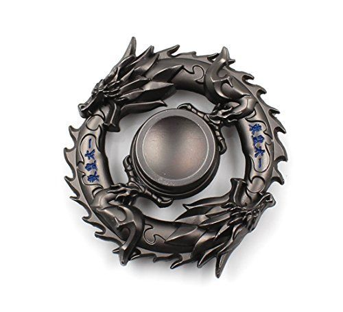 heytech Metal Fidget Spinner Hand Spinners Fidget Toy EDC Hand Spinner Ultra Durable Zinc Alloy Made Triple Wings (Chinese Dragon)