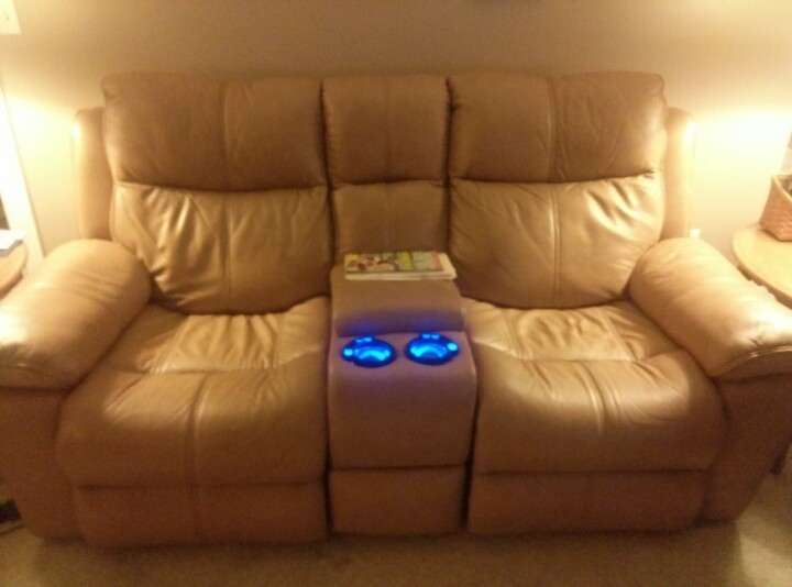 Comfy Couch With Heated Seats And Light Up Cup Holders
