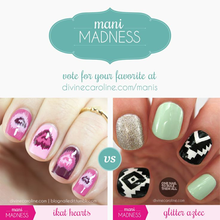 Are you ready for round two? Today's lineup includes these round one victors: Ikat Hearts vs. Glitter Aztec. Vote for your favorite!
