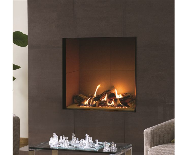 Riva 2 800 Glass Fronted Gas Fire (Balanced Flue) | Hole in The Wall Gas Fires | Gas Fires | Fires | Gazco