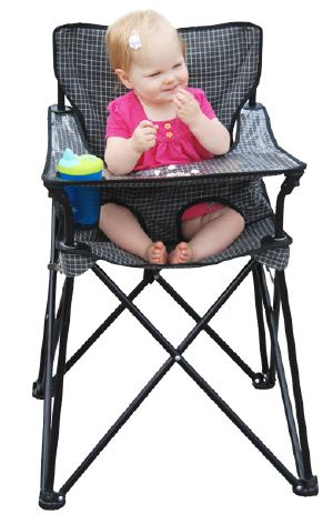 How perfect is this instead of hauling your highchair along! Now why didn't this exist a few years ago? Or did it?