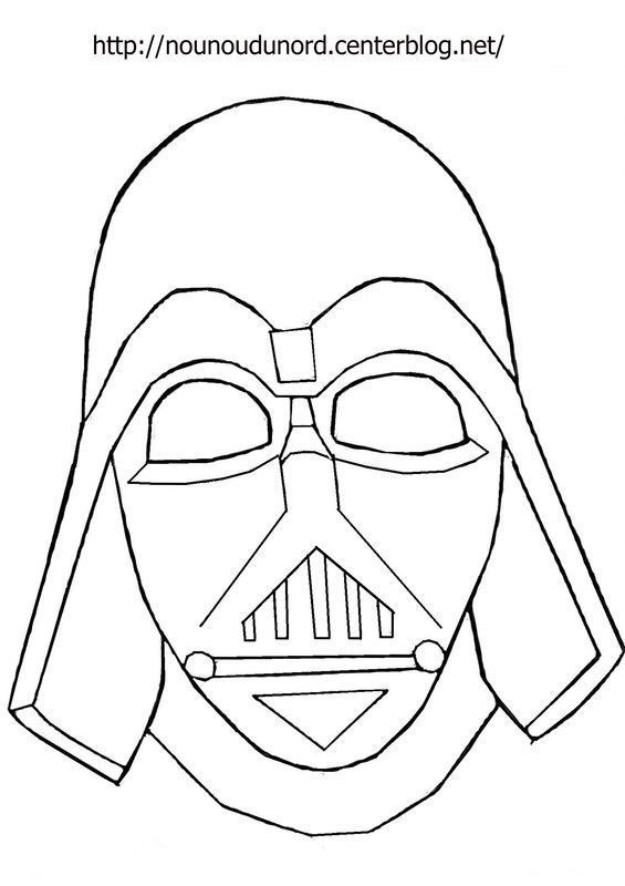 Masque Dark Vador à Imprimer Coloriage Masque Masque Dark