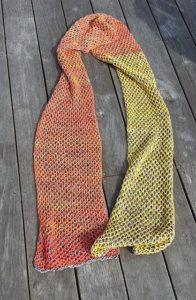 Brioche-tørklæde med bikubemønster | Strikkeglad.dk