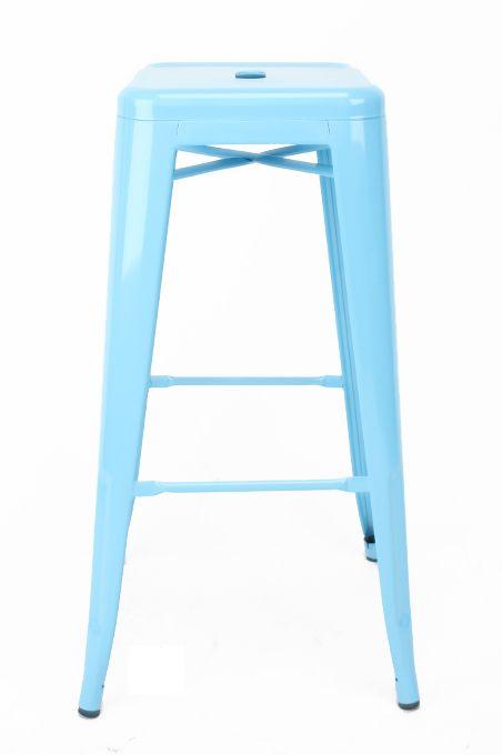 Furniture : Iron Tolix Stool - Blue