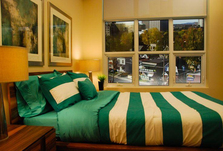 Tamarack Wellington Model Suite Bedroom #condo #homedecor #inspiration