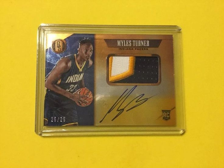 2015/16 Gold Standard 25/25 MYLES TURNER RPA #IndianaPacers