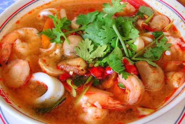 Resep tom yam. For me just forget the shrimp stock, but use fish stock instead...