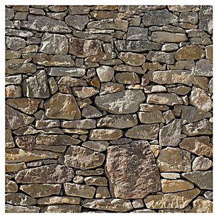 Papel fotomural muro piedra 368x254 cm 2 paneles en 2019 - Panel piedra precio ...