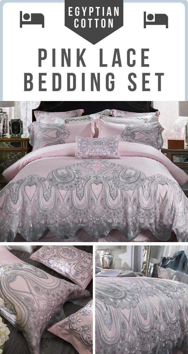 Egyptian Cotton Luxury Lace Bedding Set 4 Colors In 2020 Lace Bedding Set Lace Bedding Cotton Bedding Sets