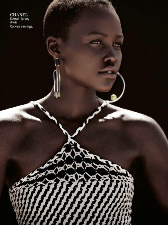 Kenyan Beauty Lupita Nyong'o for InStyle Magazine December 2013 - http://africanluxurymag.com/kenyan-beauty-lupita-nyongo-for-instyle-magazine-december-2013/