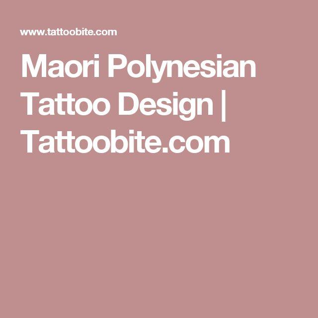 Maori Polynesian Tattoo Design   Tattoobite.com