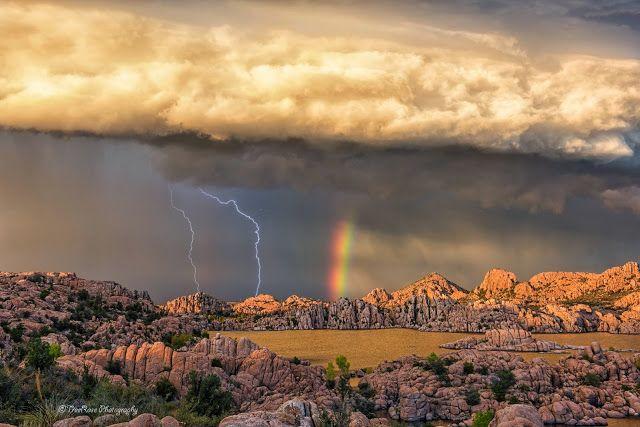 Rainbow in the Stormy Sky