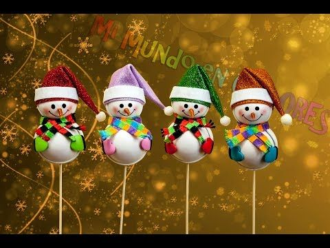 ♥ Tutorial Navidad: Ornamentos para el Árbol - RENO de Goma Eva (Foamy) ♥ - YouTube