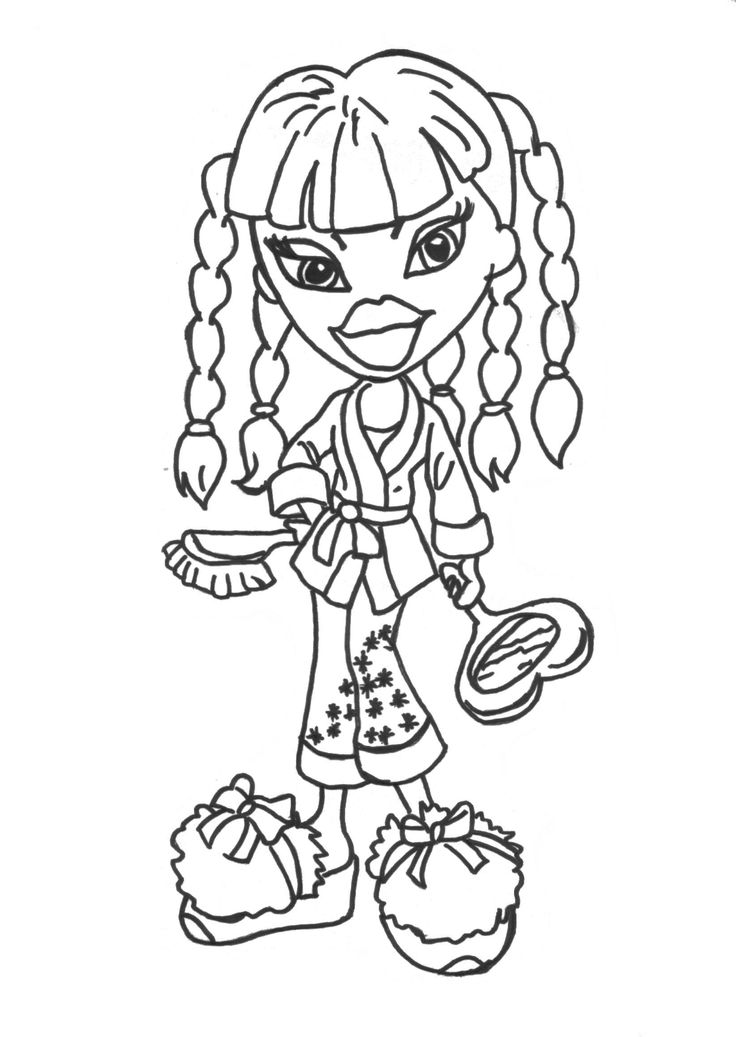 nice bratz coloring pages for girlscoloring coloring