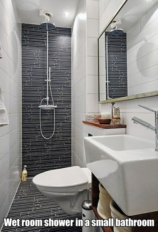 Maximize the space in a small bathroom with a wet room shower which uses a special shower base which sits on floor joists makes this possible.This system is very popular in Asia and Europe.