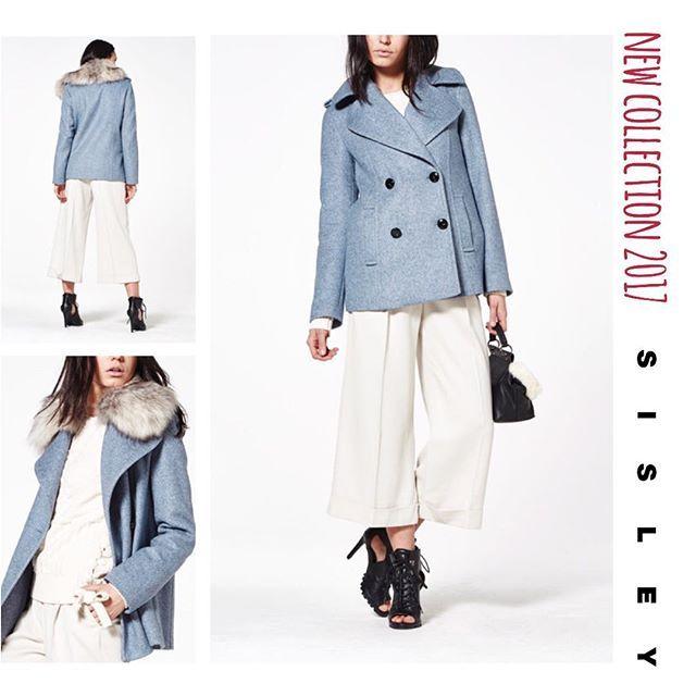 Супер модной пальто с отстёгивающимся мехом🍂👏🏼 Модного пастельно голубого цвета🛍 Последние размеры в #Sisley #Samara ❗️ Спешите за обновками😊