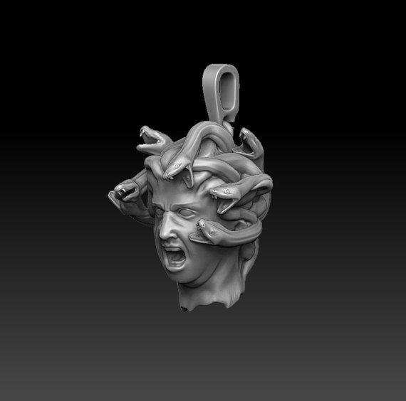 Medusa Gorgon pendant Mythology jewelry by AlexFoxJewelryStudio