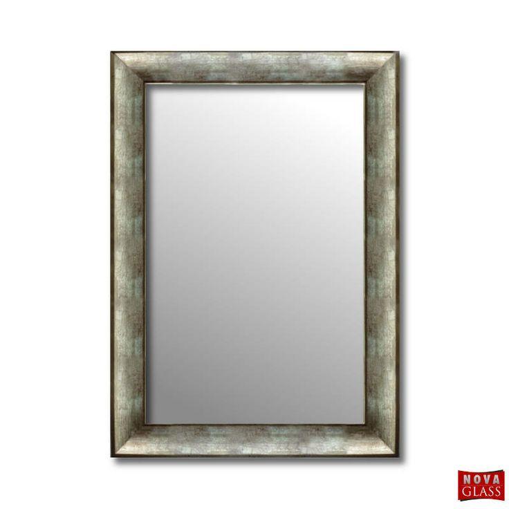 Καθρέπτης τοίχου με ασημί κρακελέ ξύλινη κορνίζα Νο 372Β