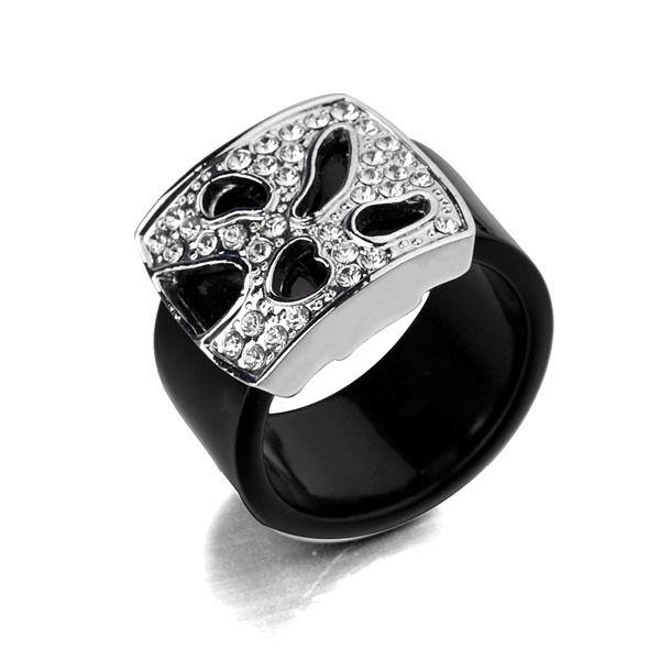 Шарм Italina рисунок металлическое кольцо с 18 К золото в ну вечеринку для мужчин