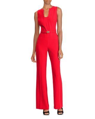 Lauren Ralph Lauren Sleeveless Belted Jumpsuit Bloomingdales