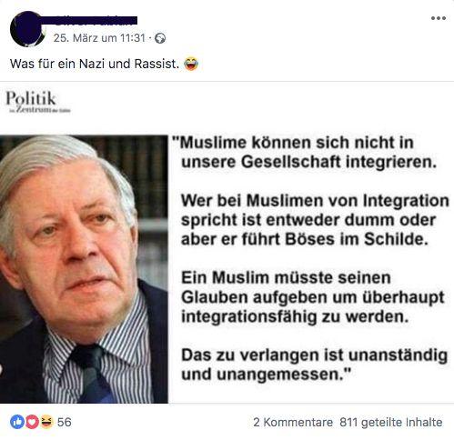 Helmut Schmidt Muslime