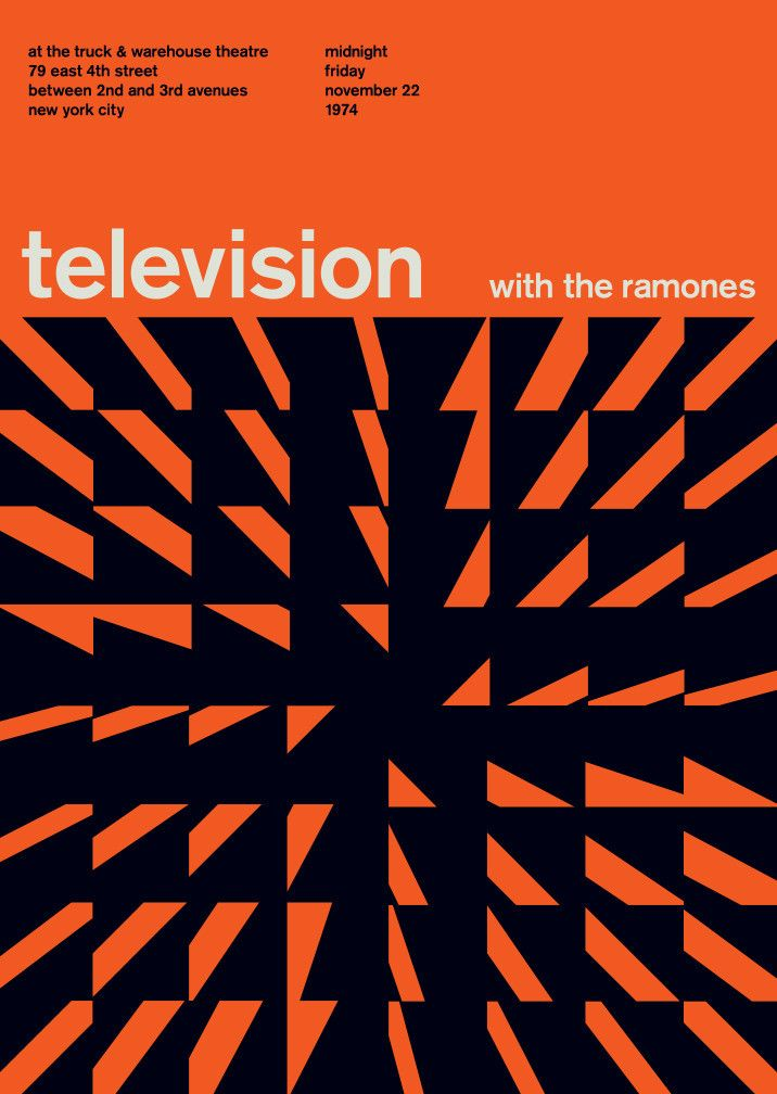 television with the ramones, 1974