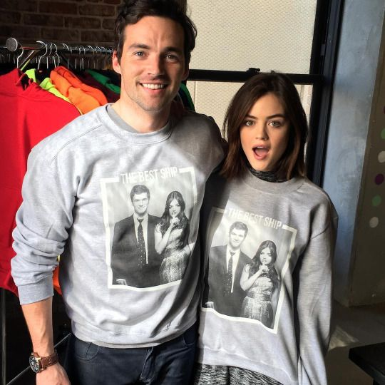 lucyhale: It's here !! Ian and I are so excited for you to wear our faces. All proceeds go to charities near to our heart( the Lupus foundation of America and @smiletrain ) Be sure to get yours at represent.com/ianandlucy @represent @ianmharding