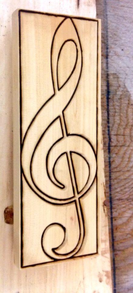 Wooden treble clef