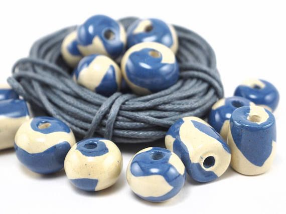Milk ceramic beads by ArtKarelia! #etsy #beads #ceramics #milk #handmade #ceramicbeads #jewelrymaking