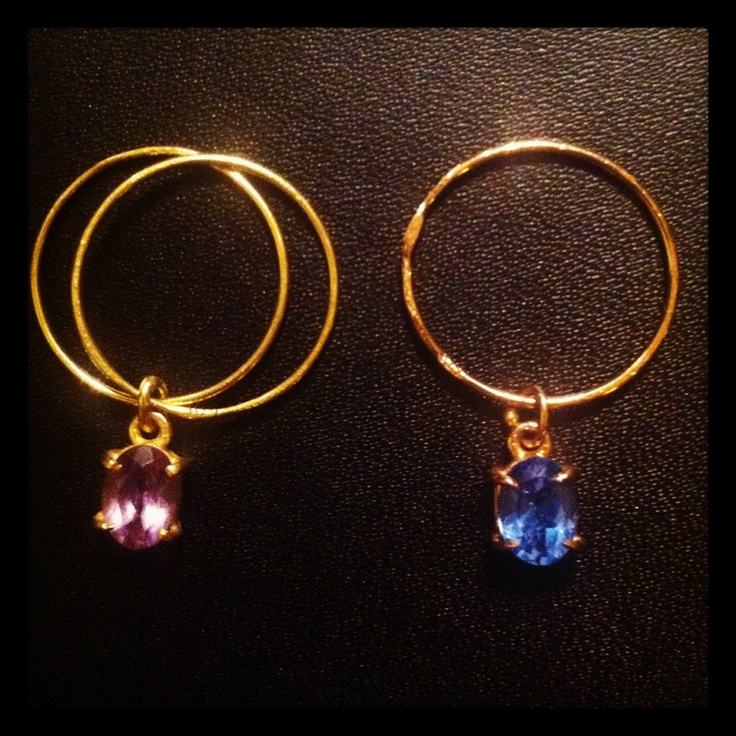 Single or double? Rings with semi precious stones by B-Tal Jewellery !!