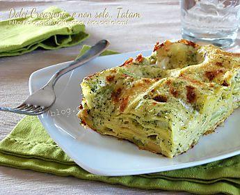Lasagne con broccoli e scamorza in bianco  ricetta facile