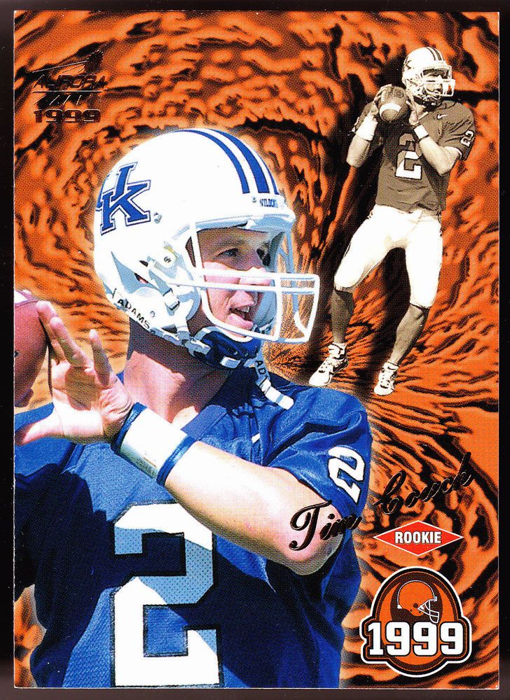 KENTUCKY WILDCATS BROWNS 1999 PACIFIC AURORA TIM COUCH ROOKIE FREE SHIPPING #ClevelandBrowns