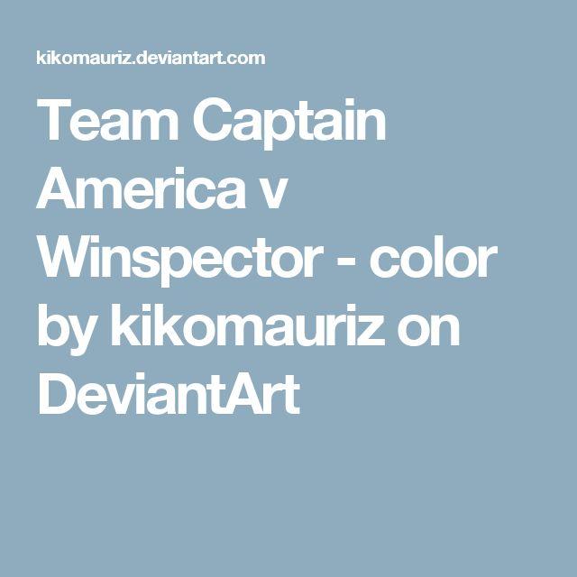 Team Captain America v Winspector - color by kikomauriz on DeviantArt