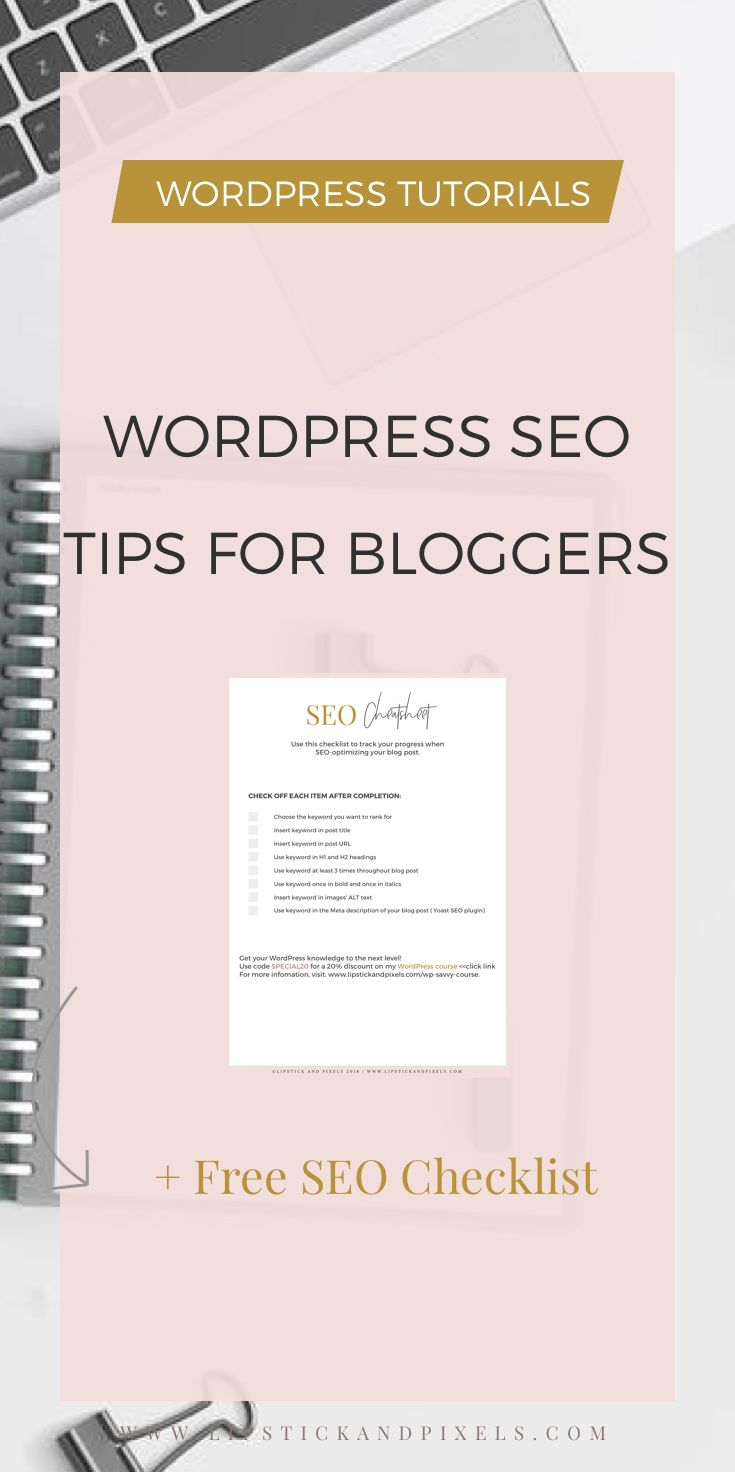 Once you have set up your WordPress blog and have written a few articles on it, you start seeing some traffic coming in. If you want to rank on the first page of Google, read my WordPress SEO tips for bloggers. #seo #wordpress #seotips #traffichacks #traffictips #increaseblogtraffic via @lipstick_pixels