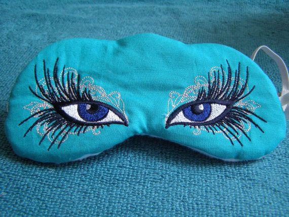 Embroidered Eye Mask, Sleep, Sleeping, Cute Sleep Mask, Kids or Adults, Sleep Blindfold, Slumber Mask, Eye Shade, Sexy Eyes Design, Handmade...