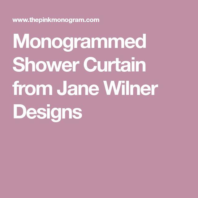 Monogrammed Shower Curtain from Jane Wilner Designs