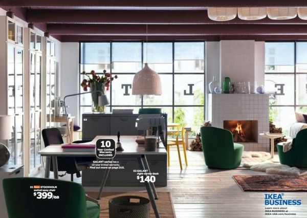 IKEA catalog trends ideas inspiration Home Office fireplace