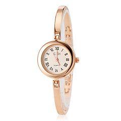 Dames+Modieus+horloge+Armbandhorloge+Kwarts+Legering+Band+Elegante+horloges+Goud+Goud+Zwart+–+EUR+€+10.55