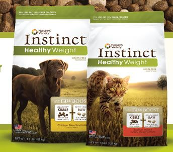 Free Sample of Nature's Variety Instinct Healthy Weight Pet Food!