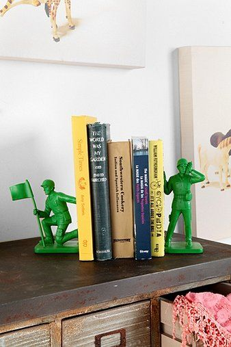 This Toy Soldier Bookend from Urban Outfitter reminds us of Toy Story