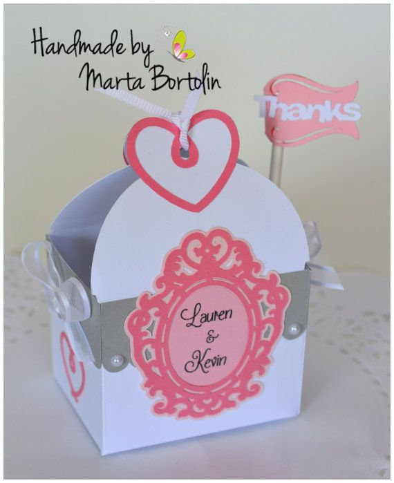 Bridal Shower Favor Box Wedding Favor  by tracesofcrafts on Etsy