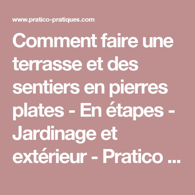 15 must see comment faire une terrasse pins comment faire une bouture citr - Comment faire etancheite terrasse ...