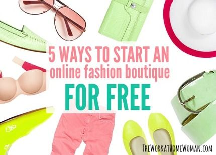 Do you want to have your own online fashion boutique, but you don't have any money to get started? This post will let you in on 5 fabulous and FREE fashion opportunities that you can do from home.