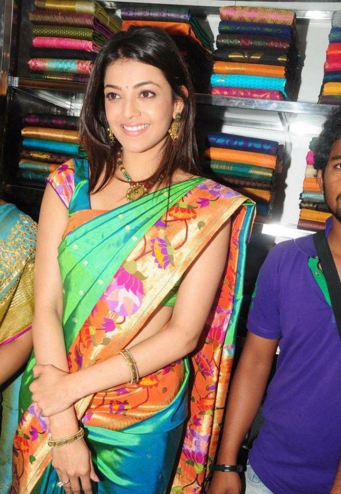 kajal agarwal wearing paithani saree