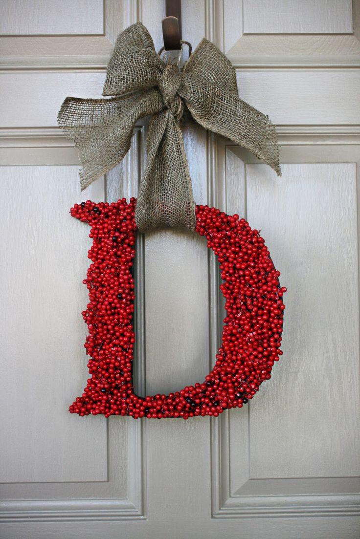 Initial door wreath