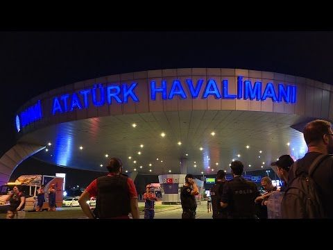 Dozens killed in Istanbul airport bombing as PM blames IS - YouTube